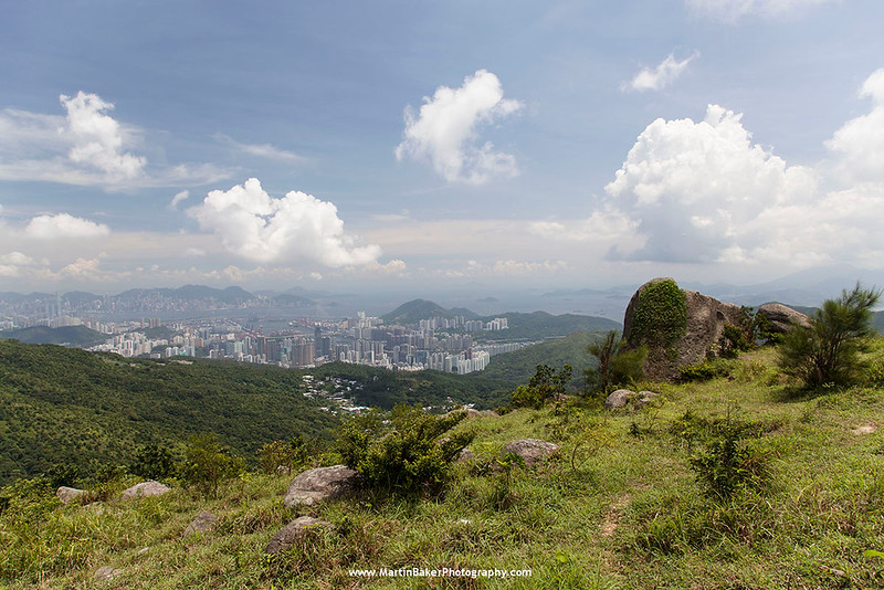 Tai Mo Shan Country Park (view towards Hong Kong Island), New Territories, Hong Kong, China.