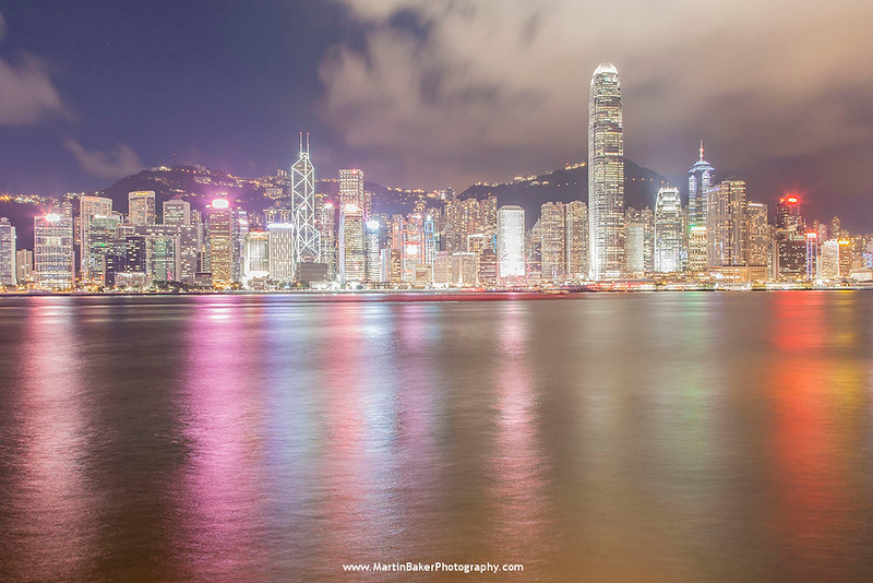 Hong Kong Island (view from Tsim Sha Tsui), Hong Kong, China.