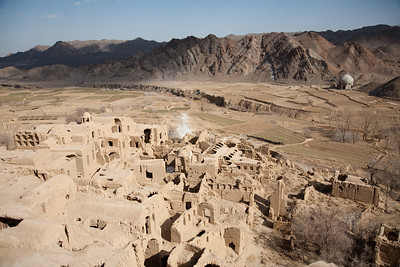 Kharanaq, Iran - February, 2008: The historical ancient city of Kharanaq lies in a dramatic valley where rugged mountains, desert and farming all come together.  (Photo by Christopher Herwig)