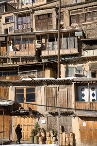Masuleh, Iran - February, 2008: Quaint mountain village of Masuleh in North Western Iran with its charming earth colored houses stack on each other clinging to the steep mountain side. (Photo by Christopher Herwig)