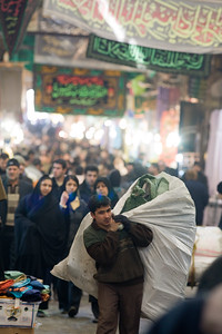 Tehran, Iran - February, 2008: Inside the busy Tehran Bazaar in the south of the city.  (Photo by Christopher Herwig)