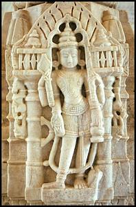 Jain temple interior, Ranakpur