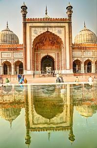 Reflecting pool at Jama Masjid Mosque