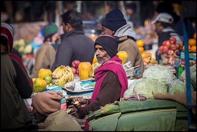 Varanasi market stalls