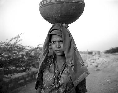 Rajistani Girl (Black and white)