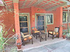 Our front door/porch at the Kanha Jungle Lodge