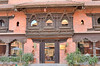 Intricate wood work at Dwarika's Hotel was salvaged from old building in Kathmandu