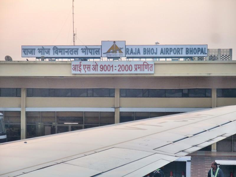 Landing at Bhopal Airport