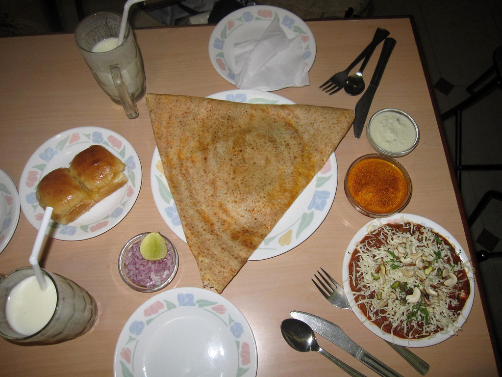 South Indian Dosa meal