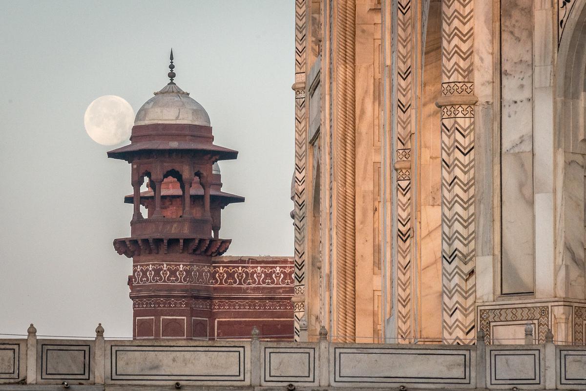 Moon Over the Taj Mahal