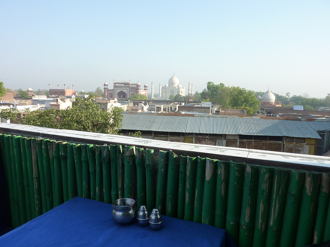 Taj Mahal - Shanti Lodge view
