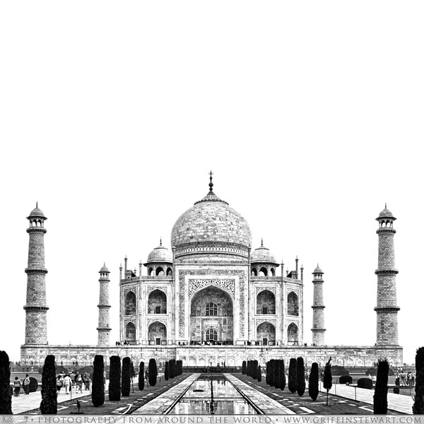 While in India, we took a trip to the city of Agra to visit the Taj Mahal.  I have always wanted to see this amazing building and so has Valerie and we were not disappointed.  It is by far one of the most beautiful building I think I have seen in my life.<br /> I love the symmetry and elegance of it.  The mostly white color and the detailed inliad carvings throughout.<br /> The entrance fee was the highest we have and probably will encounter in India at 750 Rupees ($15) per person, but it is a sight that should not be missed if you visit India and was worth it in the end.<br /> We happened to be visiting Agra right around the time of the full moon and were also excited to learn that for the two nights before and after the full moon as well as the night of the full moon, you can purchase moonlight viewing tickets for the same rate as the day tickets.  We went the last night of our stay in Agra and 2 nights before the full moon.  We would recommend doing this if you have a chance.  The experience was very peaceful and something special.  It was only us, two other foreigners and an Indian family when we went which was in stark contrast to the hundreds upon hundreds of tourists we had visited with in the daytime.  It was very dark even with full moon and is to dark for pictures with anything but and SLR and full manual settings, but just to sit ther and listen to the far away sounds of an arab prayer call and the crickets while looking at the Taj was quite special.<br /> <br /> How To Get Moon Viewing Tickets<br /> Moon viewing tickets cannot be purchased at the main ticket gates of the Taj.  They must be purchased typically a day in advance from the Archeological Survey Of India Headquarters in Agra.  It is a pink building about a 3 KM drive from the Taj and should cost about 150 Rupees return to go to.  You will need your passport to purchase the tickets.<br /> <br /> NOTE TO PHOTOGRAPHERS: No tripods of any kind are allowed in the Taj Mahal grounds.  In the daytime y