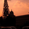 Vidhana Soudha in Bangalore at sunset.