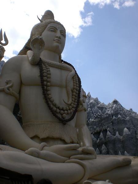 A statue inside the Shiva Temple in Bangalore, India.