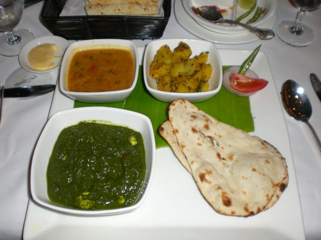 Food at Le Jardin in the Oberoi Hotel in Bangalore, India.