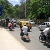 Traffic in Bangalore, India.