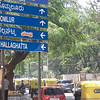 A road sign in Bangalore, India.