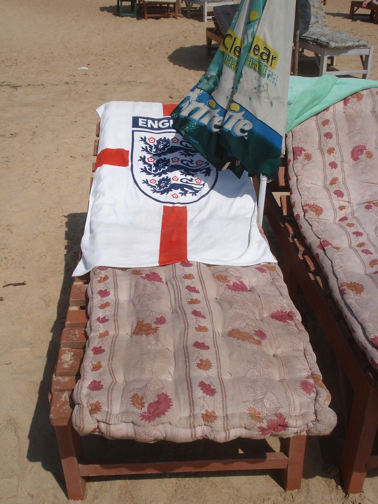 England beach towel