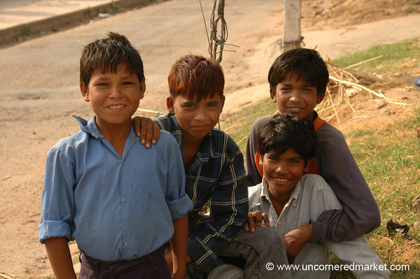 Friendly Kids in Chandigarh, India