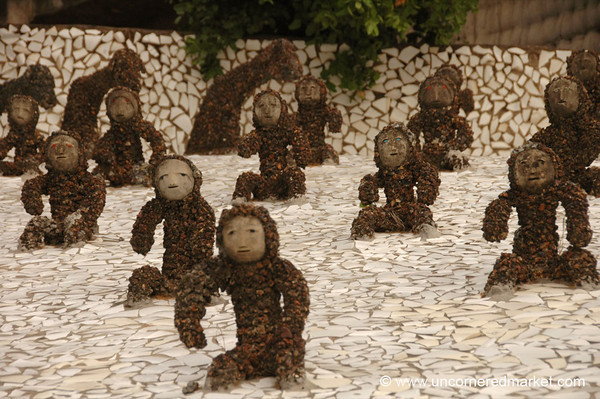 Monkey Sculptures at the Rock Garden - Chandigarh, India