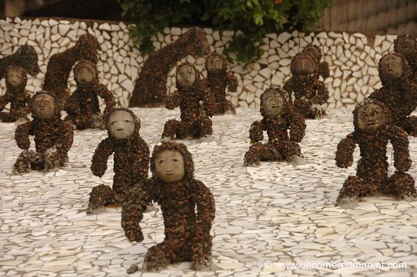 Monkey Sculptures at the Rock Garden - Chandigarh, India