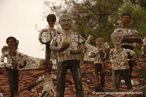 Time for Tea at Nek Chand's Rock Garden - Chandigarh, India