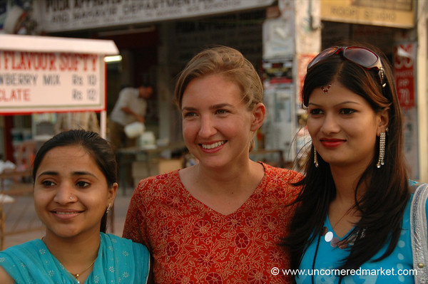 Benu, Audrey and Sonia in Chandigarh, India