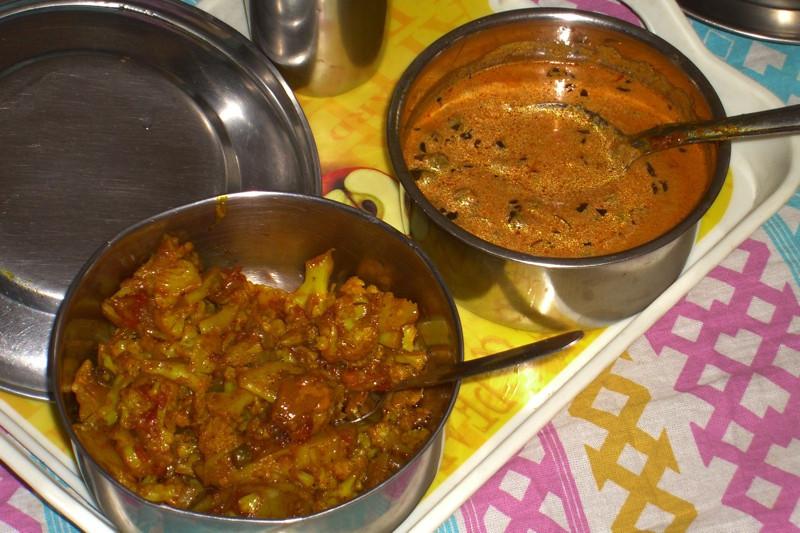 Aloo Gobi and Mutter Methi Malai - Chandigarh, India