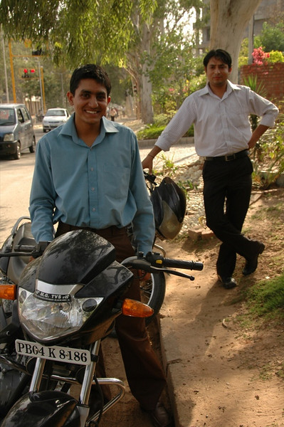 Indian Friends on Motocycles - Chandigarh, India