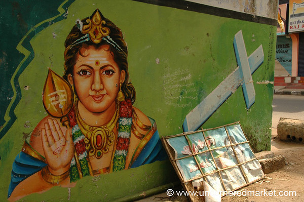 Hinduism and Christianity Street Art - Chennai, India