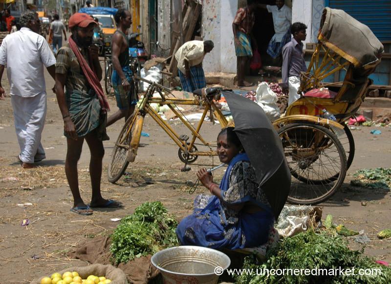 George Town Market Scene - Chennai, India