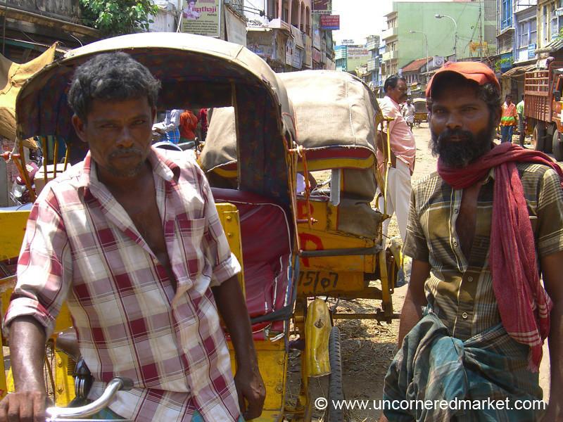 Bicycle Rickshaw Drivers - Chennai, India