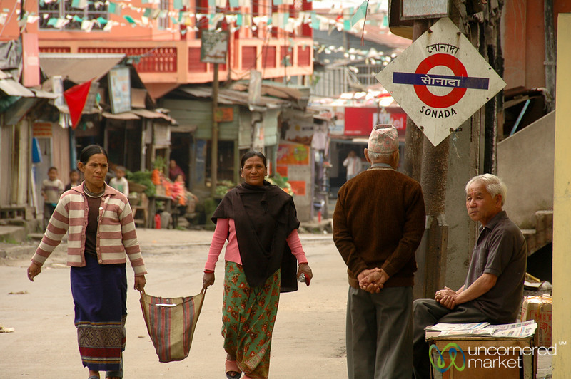 Street Scene in Sonada - West Bengal, India