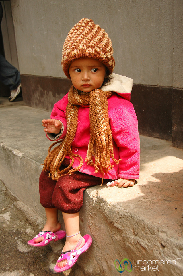 Cutie in the Market - Darjeeling, India