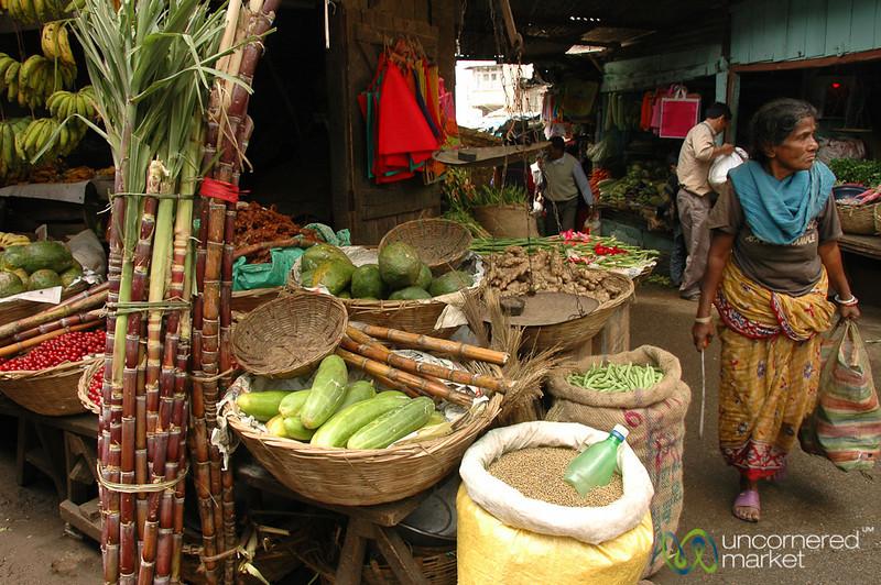 Walking Through the Fresh Market in Darjeeling, India