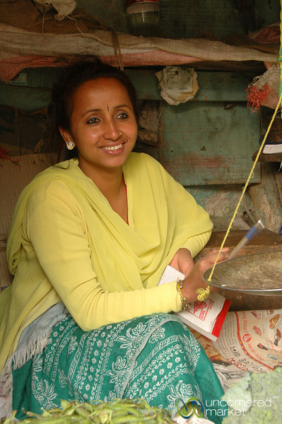 Lovely Smile in the Market - Darjeeling, India