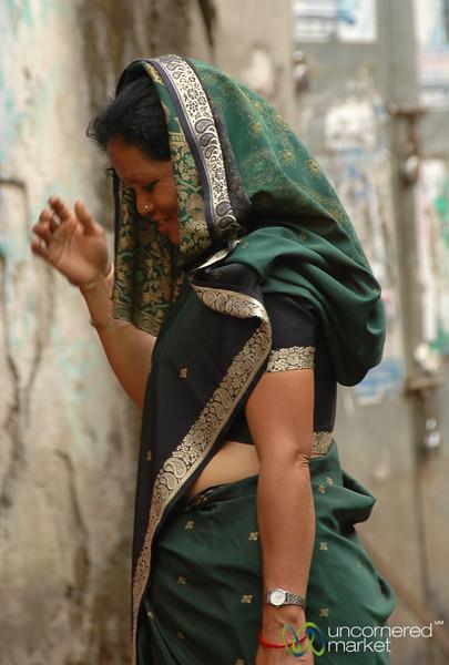 Beautiful Sari at the Darjeeling Market - India