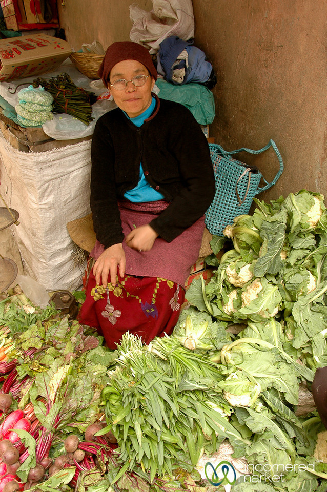 Surrounded by Fresh Vegetables - Darjeeling, India