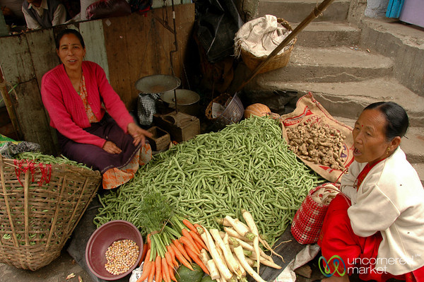 Piles of Green Beans - Darjeeling, India