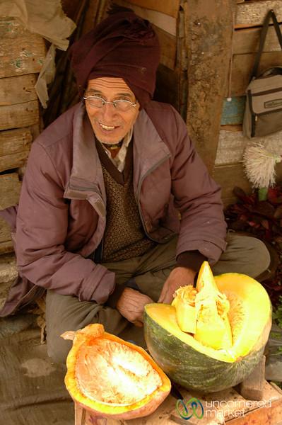 Pumpkin Vendor in Darjeeling, India