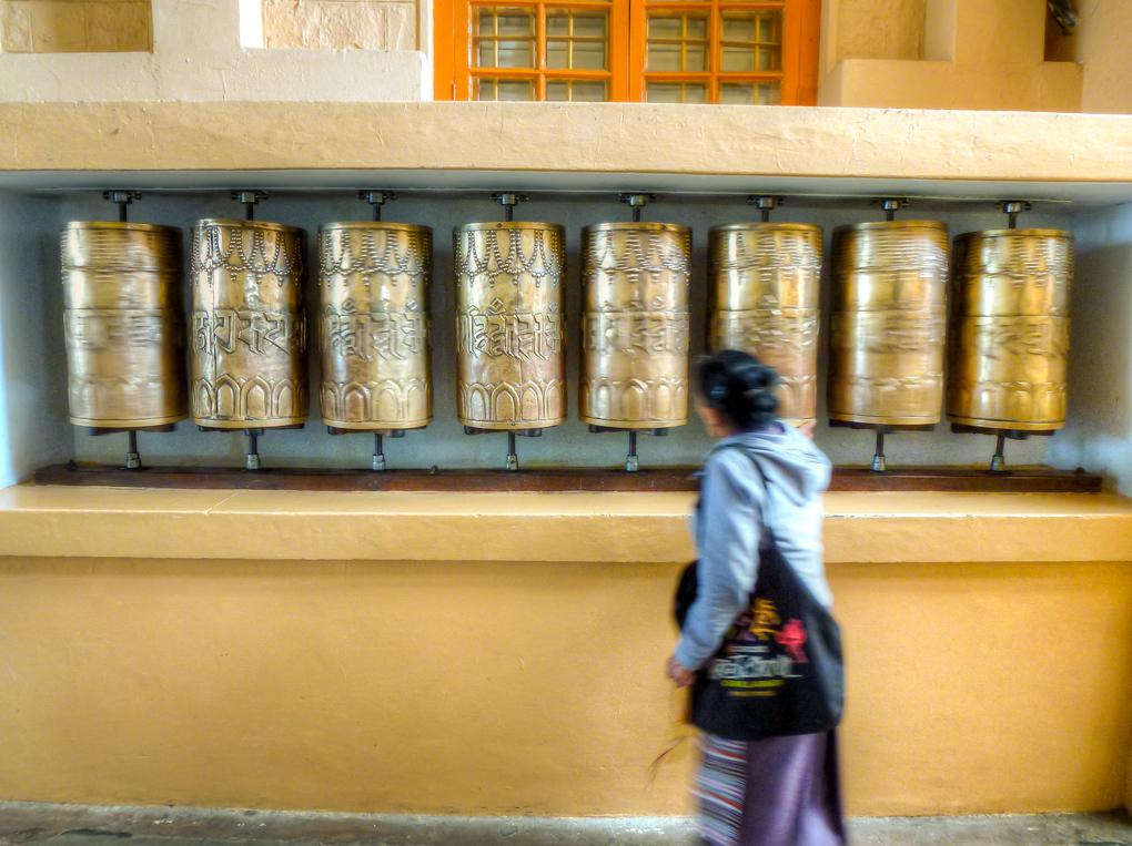 dharamsala mcleod ganj prayer wheels