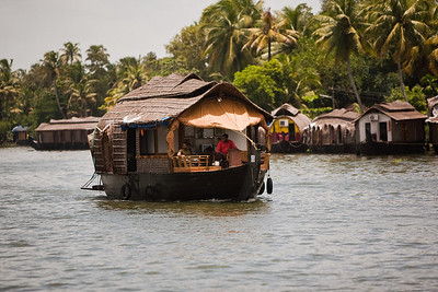 Houseboat cruising, Alleppey, Kerala, South India