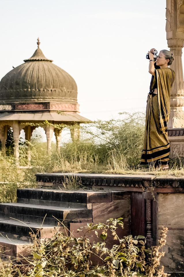 Photographer in a sari