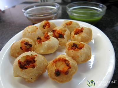 Pani Puri at Little Gujarat - Durban, South Africa