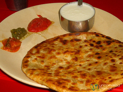 Fried Paratha and Toppings - Gangtok, Sikkim