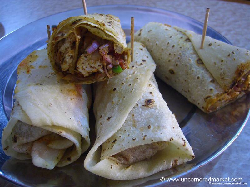 Roti Rolls in Chandigarh, India