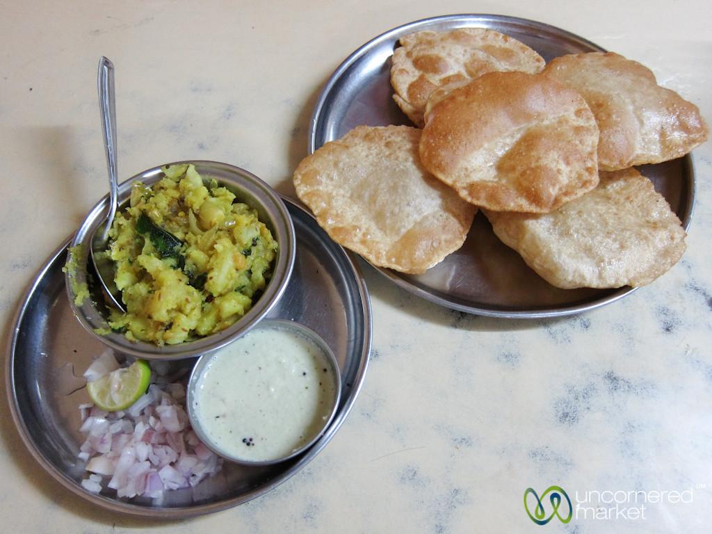 Puri Bhaji in Mumbai, India