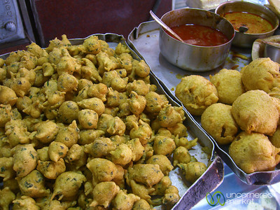 Fried Snacks on the Streets of Kolkata, India