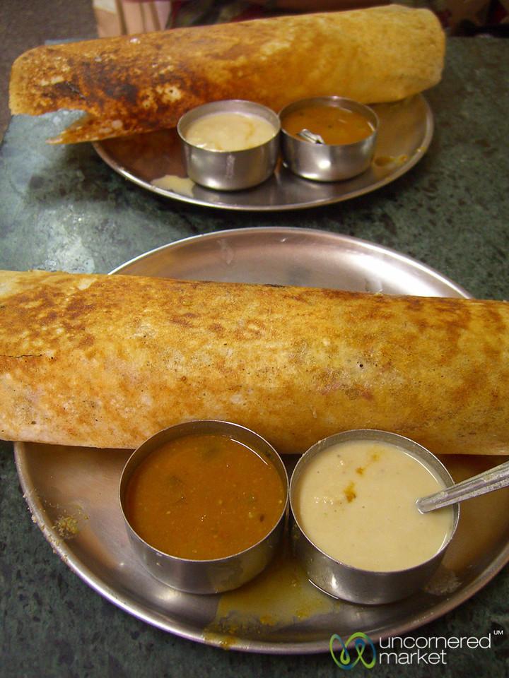 Masala Dosa - Comfort Breakfast Food (Kolkata, India)