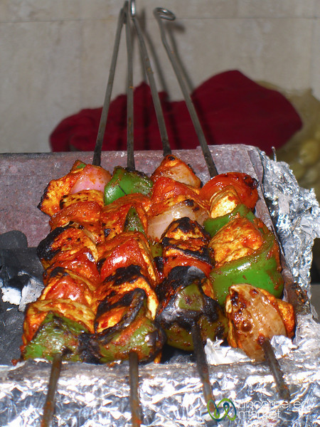 Grilled Paneer and Vegetable Skewers  - Mumbai, India